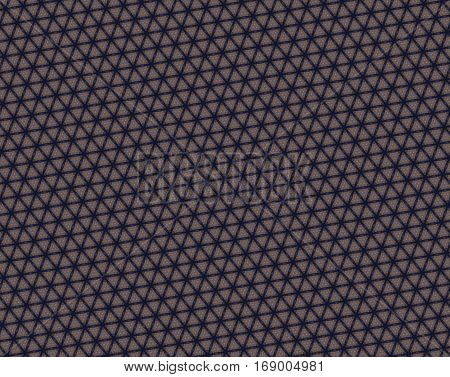 Abstract Navy Blue And Brown Triangle Pattern
