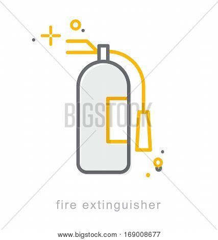Thin line icons Linear symbols Fire extinguisher