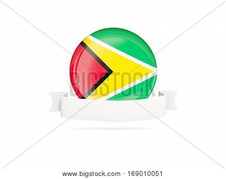 Flag Of Guyana With Banner