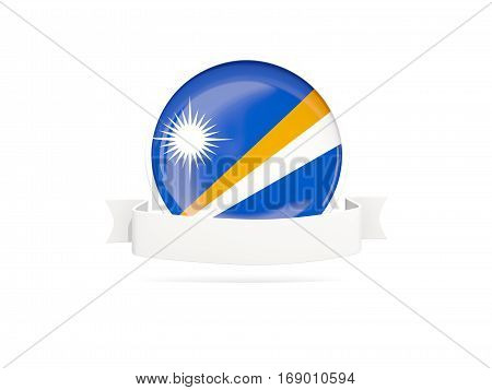 Flag Of Marshall Islands With Banner