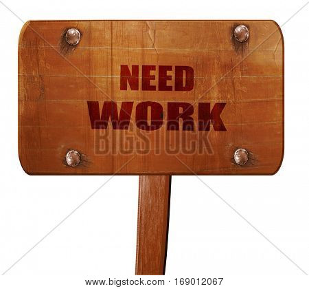 Crisis sign background, 3D rendering, text on wooden sign
