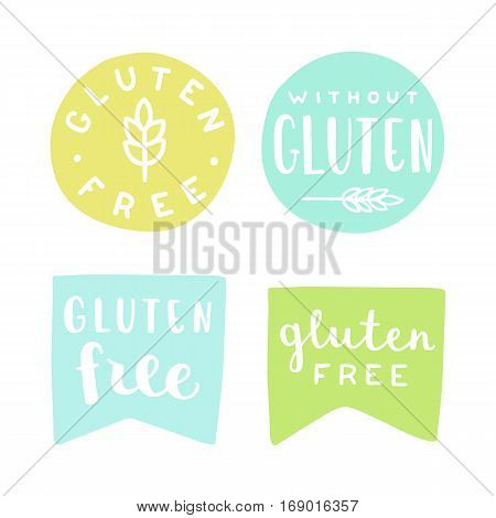Set of gluten free badges. Can be used for packaging design