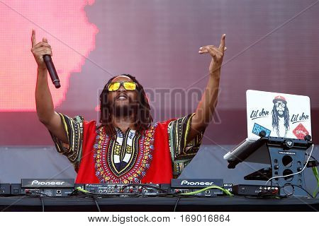 LAS VEGAS-SEP 20: DJ Lil Jon performs in concert at the 2014 iHeartRadio Music Festival Village Show at MGM Resorts Village on September 20, 2014 in Las Vegas, Nevada.
