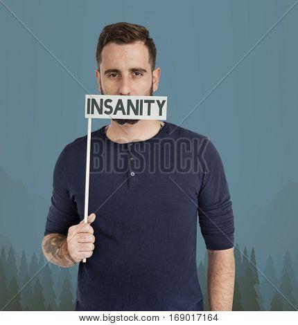 Man Insanity Studio Portrait Concept
