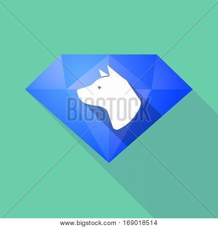 Long Shadow  Diamond With  A Dog Head