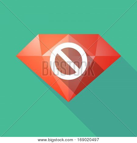 Long Shadow  Diamond With  A Forbidden Sign