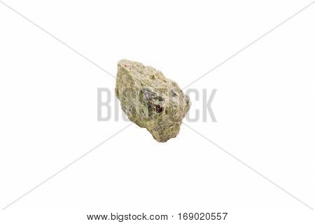 Serpentine stone on white isolated on white