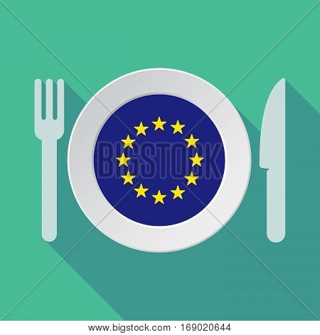 Long Shadow Tableware With  The Eu Flag Stars