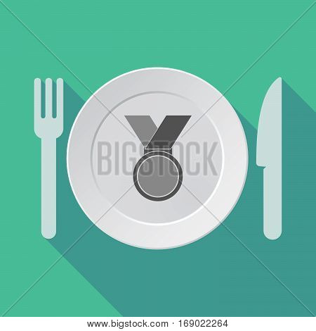 Long Shadow Tableware With  A Medal