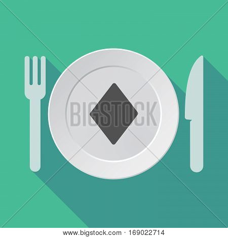 Long Shadow Tableware With  The  Diamond  Poker Playing Card Sign