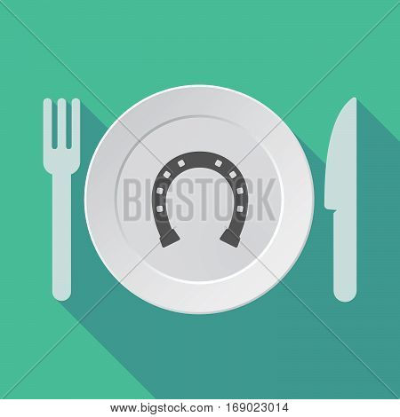Long Shadow Tableware With  A Horseshoe Sign