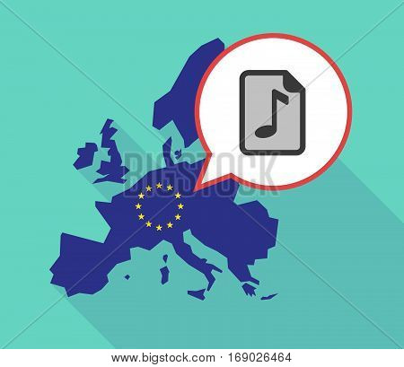 Map Of The Eu Map With  A Music Score Icon