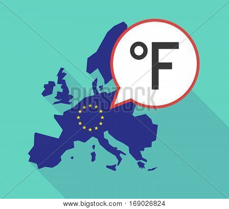 Map Of The Eu Map With  A Farenheith Degrees Sign