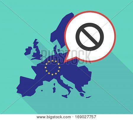 Map Of The Eu Map With  A Forbidden Sign