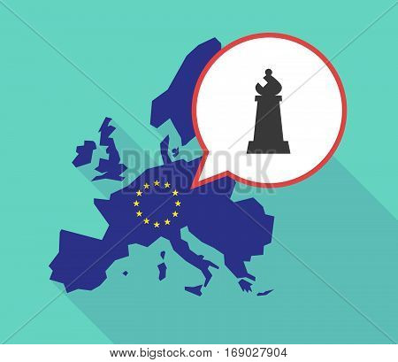 Map Of The Eu Map With A Bishop    Chess Figure