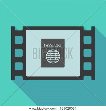 Long Shadow Film Frame With  A Passport