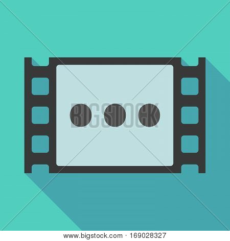 Long Shadow Film Frame With  An Ellipsis Orthographic Sign