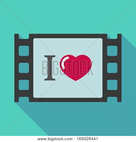 Long Shadow Film Frame With  An