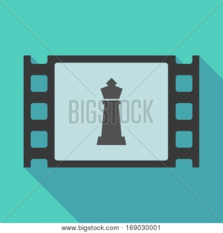 Long Shadow Film Frame With A  King   Chess Figure