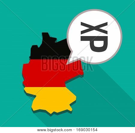 Map Of Germany With  A Tongue Sticking Text Face Emoticon