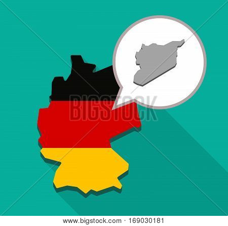 Map Of Germany With  The Map Of Syria