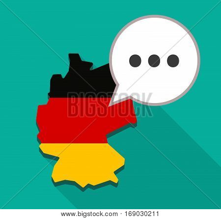Map Of Germany With  An Ellipsis Orthographic Sign