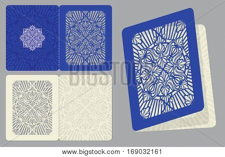 Classic wedding invitation with lace pattern vector template. Card with ornate lace, illustration of page victorian lace for card and menu
