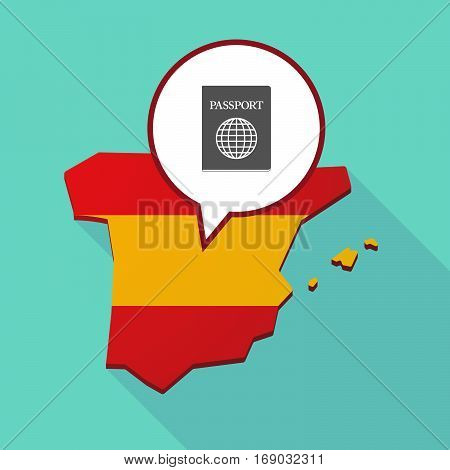 Map Of Spain With  A Passport