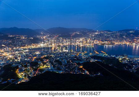 Nagasaki city in Kyushu of Japan