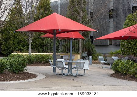 A covered picnic area open to public