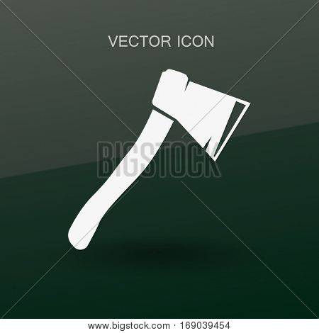 The ax stuck in a tree stump vector illustration