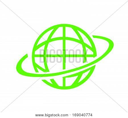 Planet icon vector illustration on white background