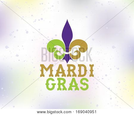 Mardi Gras background with text. Usable for greeting card, banner, gift packaging, promo. Fat tuesday, carnival