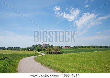 Andechs Cloister In Idyllic Rural Bavarian Landscape
