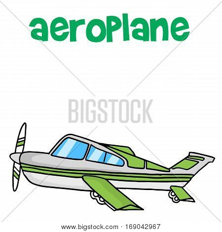 Transport of airplane vector art collection stock