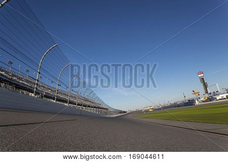 January 05, 2017 - Daytona Beach, Florida, USA:  Daytona International Speedway plays host to major motorsports events throughout the year, including the Rolex 24 Hours and the Daytona 500.