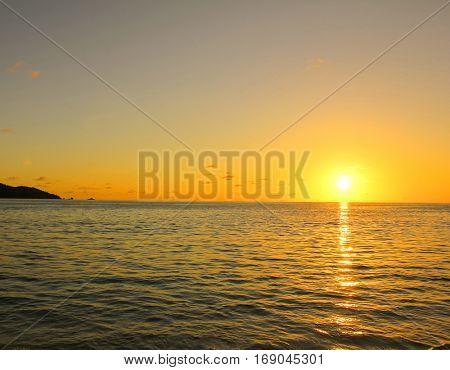 Sea Nightfall Coast