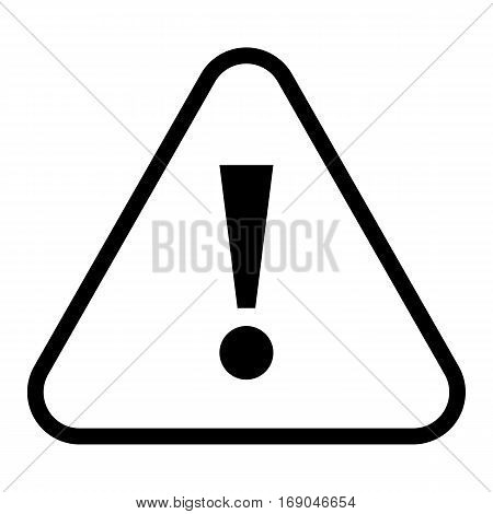 Use it in all your designs. Thin line style exclamation mark icon warning sign attention button in triangle shape. Vector illustration a graphic element for web internet design