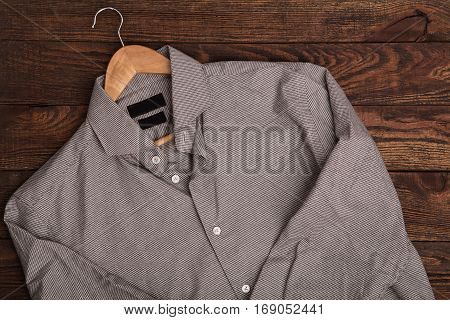 Casual Outfit On Brown Wooden Grunge Background