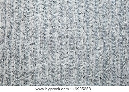 Close Up On Knit Woolen Fur Texture.