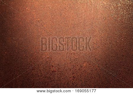 Rusty metal texture rusty metal background for design with copy space for text or image. Rusty metal is caused by moisture in the air.