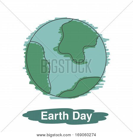 Earth world planet. Earth day vector illustration.