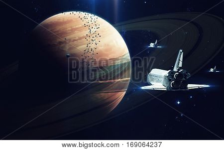 Gas giant planet. Beauty of deep space. Billions of galaxies in the universe. Elements of this image furnished by NASA