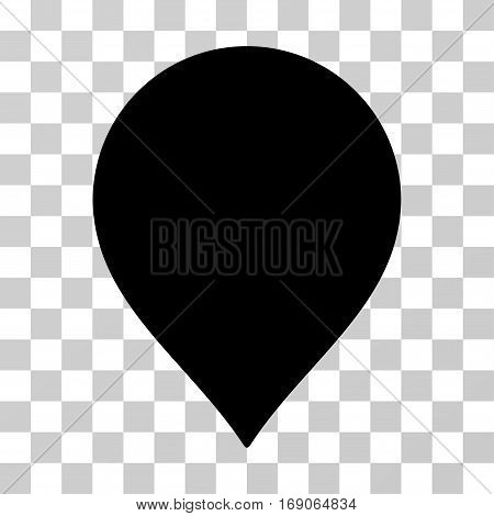 Map Marker icon. Vector illustration style is flat iconic symbol, black color, transparent background. Designed for web and software interfaces.