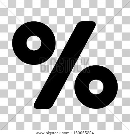 Percent icon. Vector illustration style is flat iconic symbol, black color, transparent background. Designed for web and software interfaces.