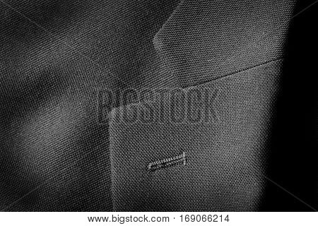 Lapel of nice suit jacket for man clothing fashion