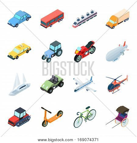 Transportation set icons in cartoon design. Big collection of transportation vector symbol stock illustration