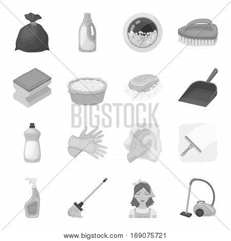 Cleaning set icons in monochrome design. Big collection of cleaning vector symbol stock illustration