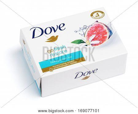 Dove Go Fresh Restore - Beauty Cream Bar Soap Isolated On White