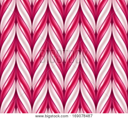 Candy cane background. Hard candy seamless pattern. Vector illustration.